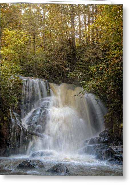 Reflections In River Greeting Cards - Waterfall After the Rain Greeting Card by Debra and Dave Vanderlaan