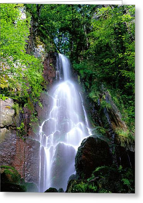 Whitewater Greeting Cards - Waterfall Alsace France Greeting Card by Panoramic Images