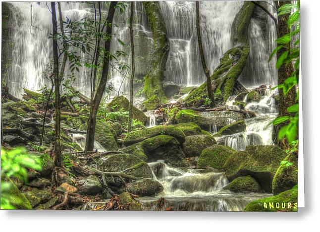 Costa Greeting Cards - Waterfall Greeting Card by Andrew Nourse