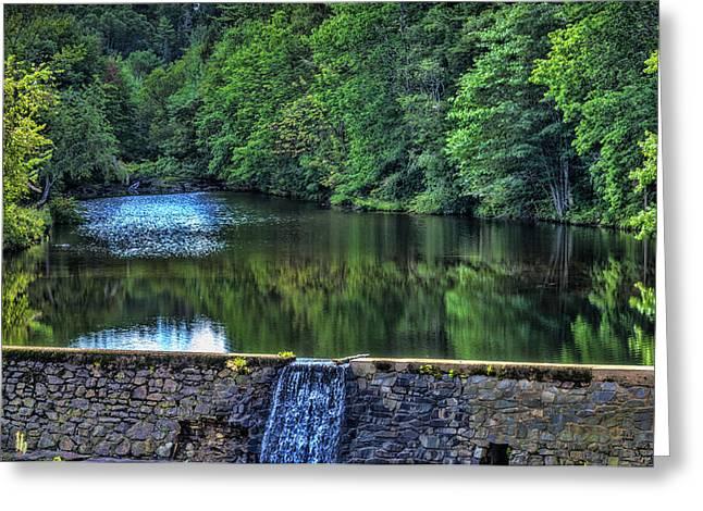 Minas Basin Greeting Cards - Waterfall at Minas Basin Pulp and Power Co   Greeting Card by Ken Morris