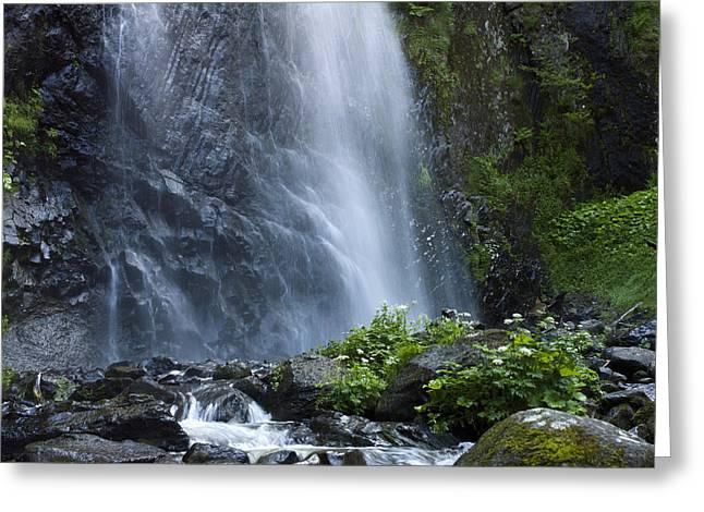 Streaming Greeting Cards - Waterfall Greeting Card by Bernard Jaubert