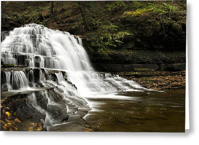 Waterfall Cascade Greeting Card by Christina Rollo