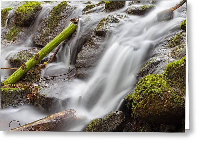 Pouring Greeting Cards - Waterfall Close Up in Marlay Park Greeting Card by Semmick Photo