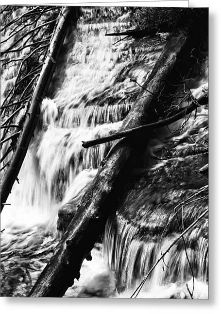 Natural Dam Greeting Cards - Waterfall Dam Greeting Card by Dan Sproul