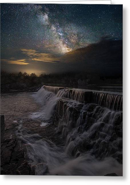 Waterfall Greeting Cards - Waterfall Dreamscape Greeting Card by Aaron J Groen
