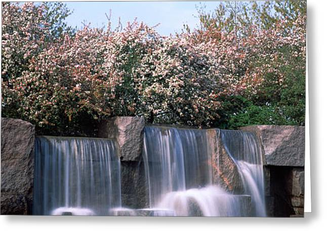 Franklin Roosevelt Photographs Greeting Cards - Waterfall, Franklin Delano Roosevelt Greeting Card by Panoramic Images