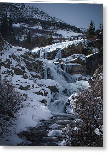 Waterfall Frozen In Time Greeting Card by Michael Bauer