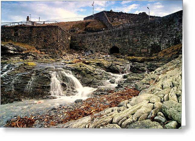 Beaches Reliefs Greeting Cards - Waterfall Harbour Greeting Card by Greig McIntosh