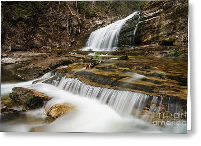 Fallscape Greeting Cards - Waterfall - Heading Northwest Greeting Card by JG Coleman