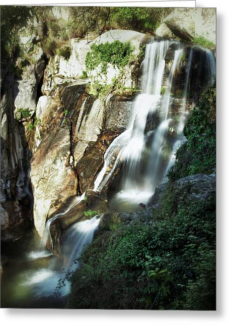 Waterfall I Greeting Card by Marco Oliveira