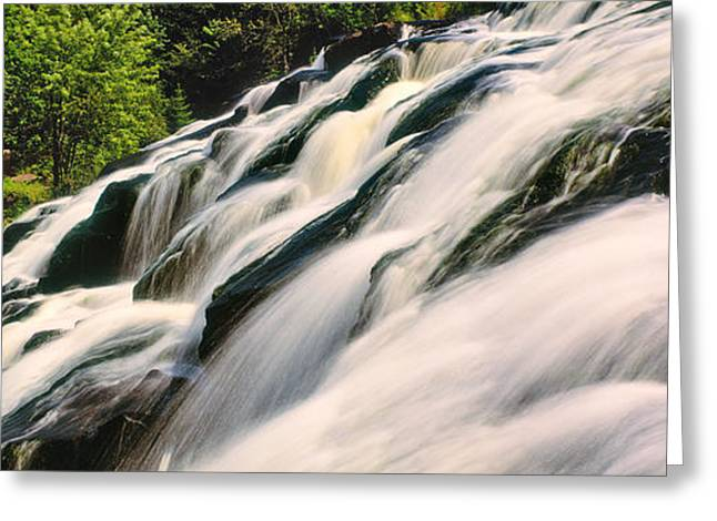 Upper Peninsula Greeting Cards - Waterfall In A Forest, Bond Falls Greeting Card by Panoramic Images