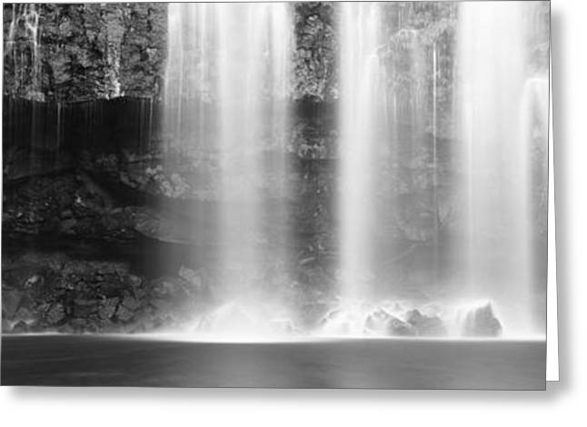 Llano Greeting Cards - Waterfall In A Forest, Llanos De Cortez Greeting Card by Panoramic Images