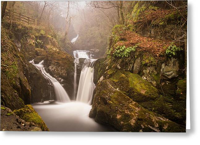Motion Greeting Cards - Waterfall In The Mist. Greeting Card by Daniel Kay