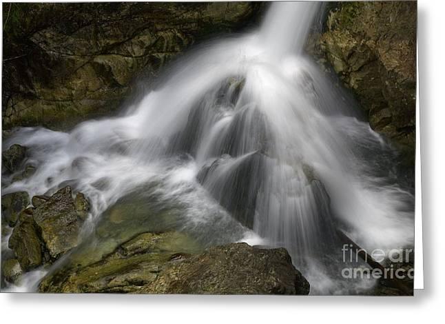 Waterfall In The Rocks Greeting Card by Jaroslaw Blaminsky