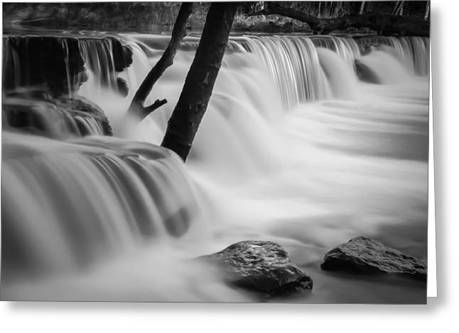 Arkansas Greeting Cards - Waterfall Greeting Card by James Barber