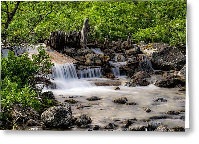 Wasilla Greeting Cards - Waterfall Greeting Card by Jeff Ehlers