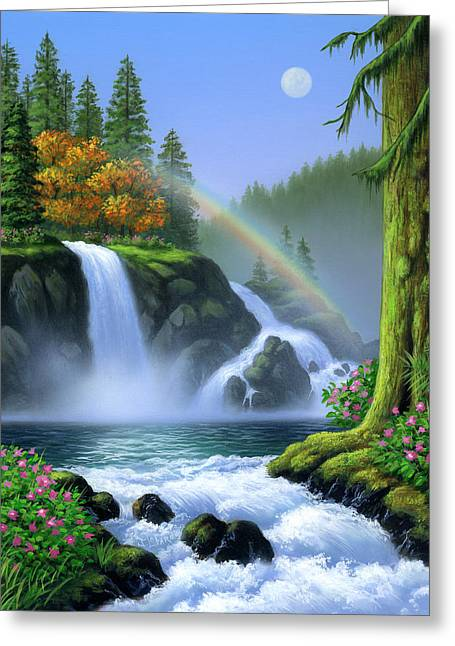 Waterfall Greeting Cards - Waterfall Greeting Card by Jerry LoFaro