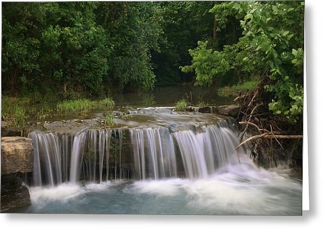Waterfall Lee Creek Ozarks Arkansas Greeting Card by Tim Fitzharris