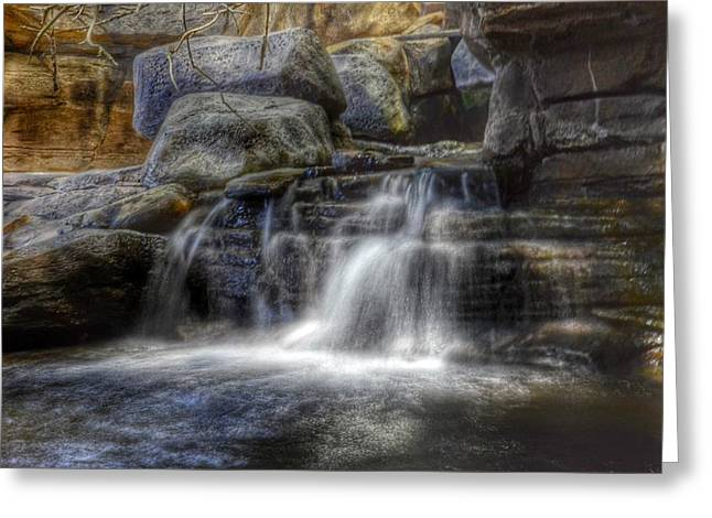 Waterfall Greeting Card by Marianna Mills