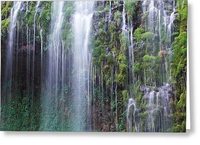 Siskiyou County Greeting Cards - Waterfall, Mossbrae Falls, Sacramento Greeting Card by Panoramic Images