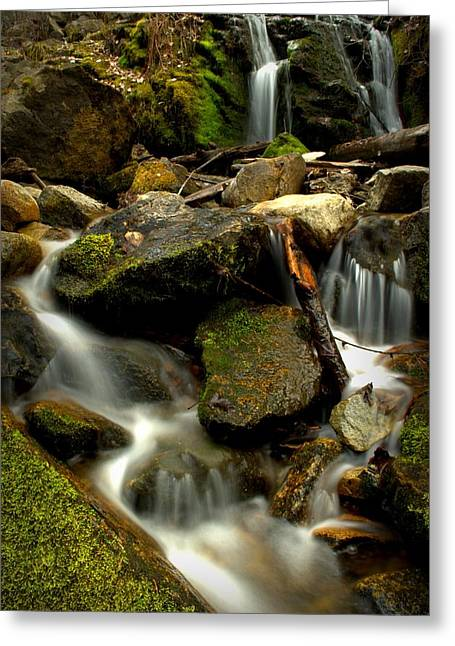 Naramata Greeting Cards - Waterfall - Naramata DSC0056-001 Greeting Card by Guy Hoffman