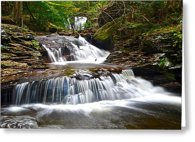 Family Love Greeting Cards - Waterfall Oasis Greeting Card by Frozen in Time Fine Art Photography