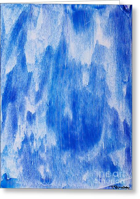 Scifi Paintings Greeting Cards - Waterfall painting Greeting Card by Simon Bratt Photography LRPS