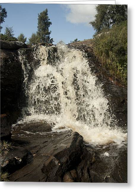 Waterfall Greeting Cards - Waterfall Greeting Card by Peter Cassidy