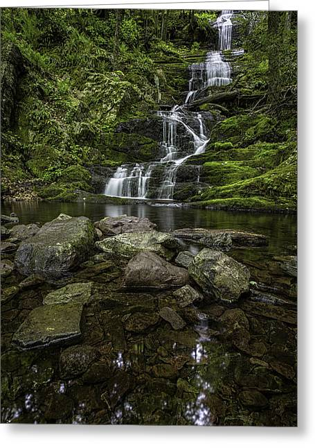 Buttermilk Falls Greeting Cards - Waterfall Pool Greeting Card by Sara Hudock