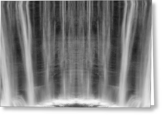 The Great Lakes Greeting Cards - Waterfall Reflection Greeting Card by Dan Sproul