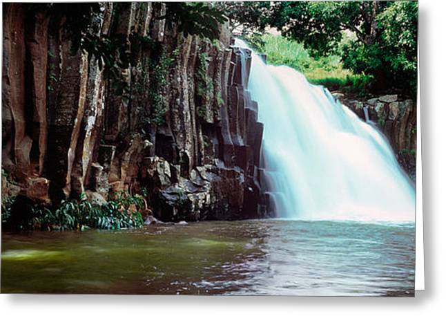 Mauritius Greeting Cards - Waterfall, Rochester Falls, Mauritius Greeting Card by Panoramic Images