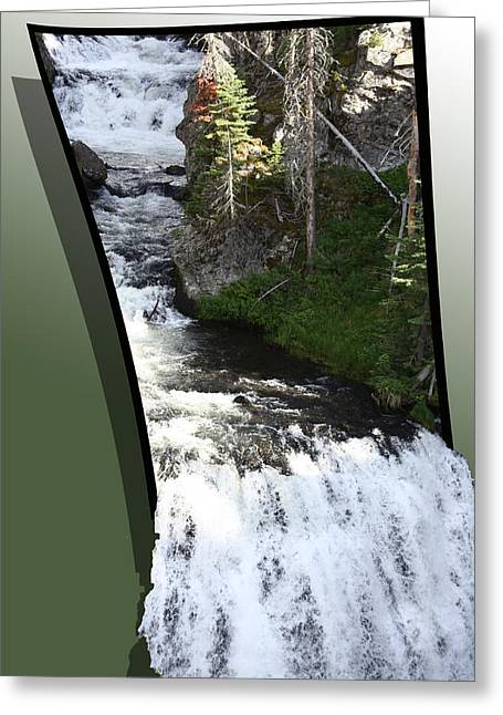 Waterfall Greeting Card by Shane Bechler
