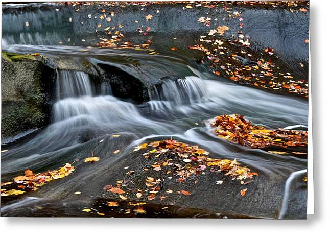 Waterfall Simplicity Greeting Card by Frozen in Time Fine Art Photography