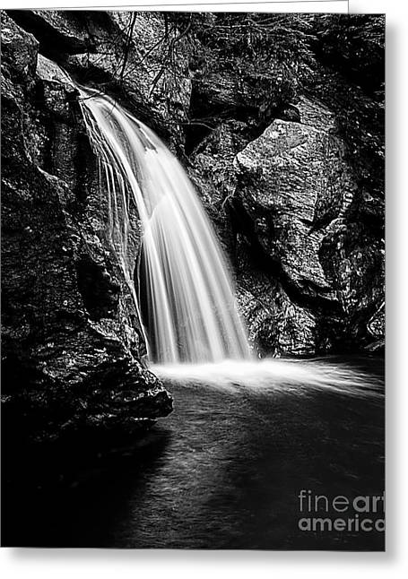 Adam Greeting Cards - Waterfall Stowe Vermont Open Edition Greeting Card by Edward Fielding