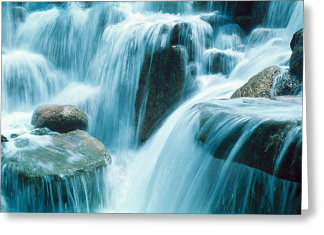 Moist Greeting Cards - Waterfall Temecula Ca Usa Greeting Card by Panoramic Images