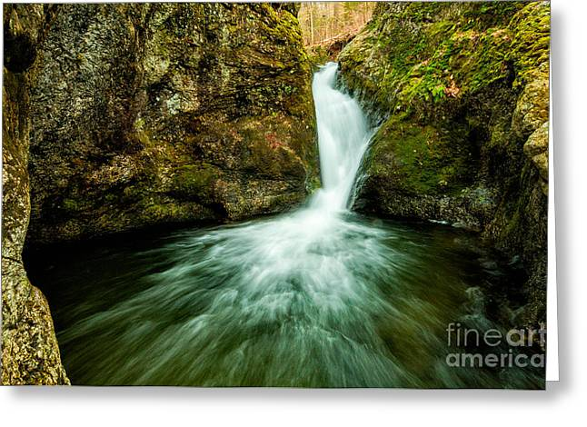 Flowing Wells Greeting Cards - Waterfall - The Falls of Indian Well Greeting Card by JG Coleman