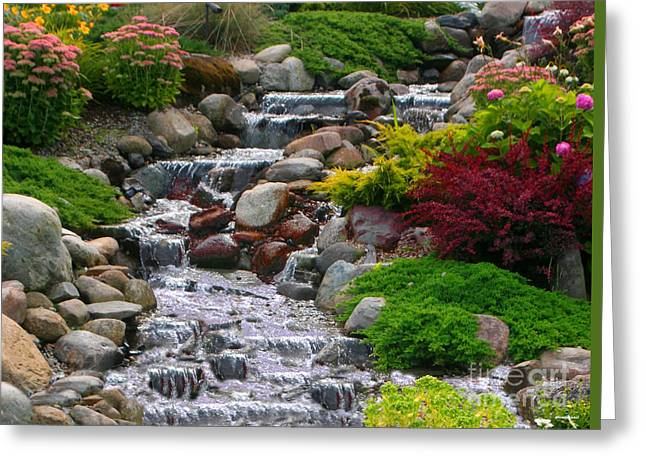 Flower Photographers Greeting Cards - Waterfall Greeting Card by Tom Prendergast