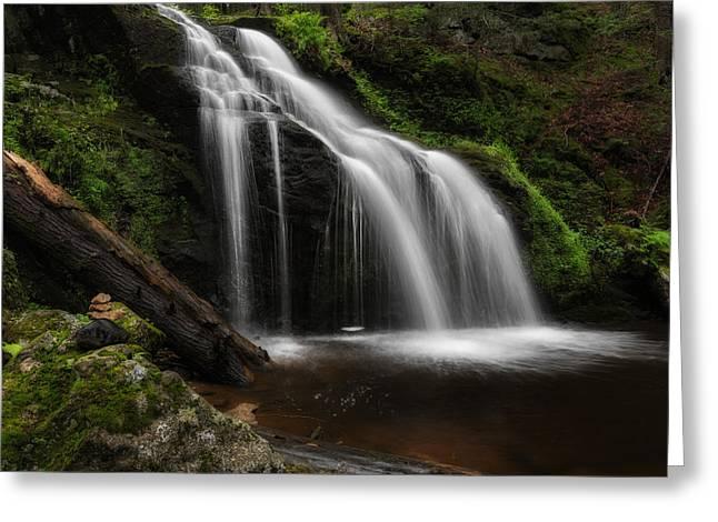 Waterfall Zen Greeting Card by Bill Wakeley