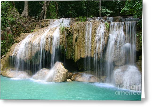 Waterfalls Pyrography Greeting Cards - Waterfalls Beautiful Greeting Card by Boon Mee