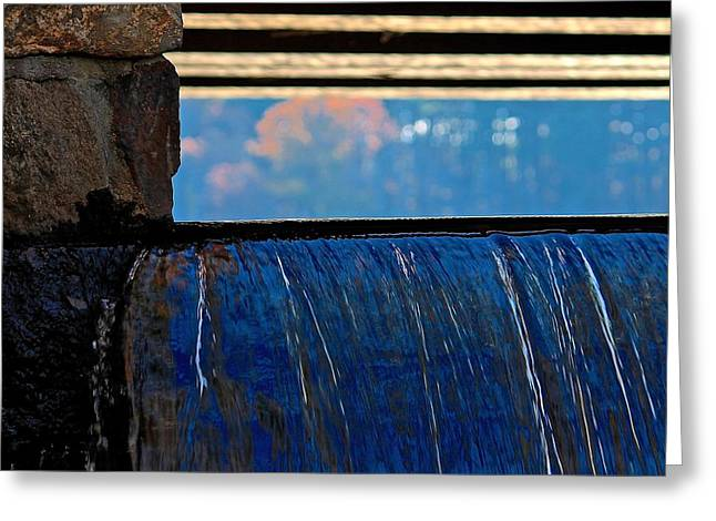 Fineartamerica Greeting Cards - Waterfalls Edge I Greeting Card by Michael Saunders