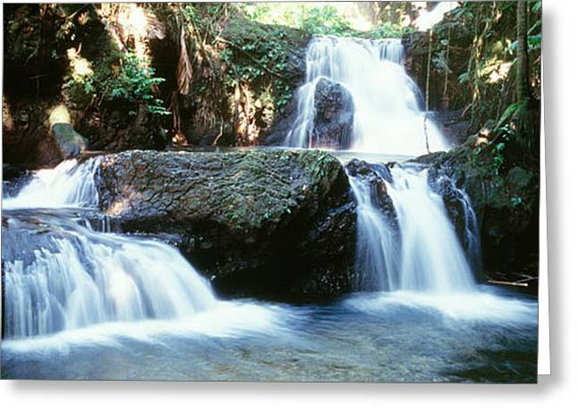 Natural Resources Greeting Cards - Waterfalls Hilo Hi Greeting Card by Panoramic Images