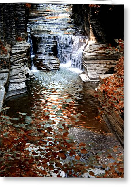 Recently Sold -  - Ithaca Greeting Cards - Waterfalls Greeting Card by Marketa Bement