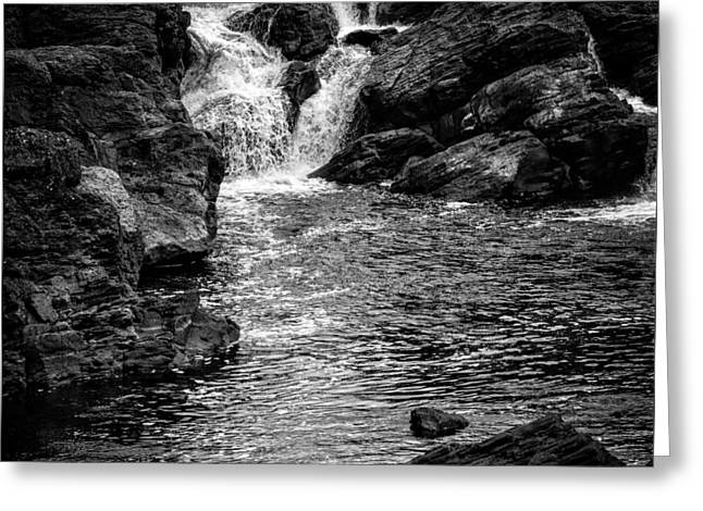 Waterfalls Number 8 Greeting Card by Bob Orsillo