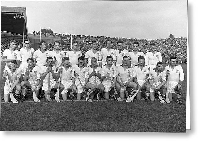 Replay Photos Greeting Cards - Waterford Hurling Team 1959 Greeting Card by Irish Photo Archive