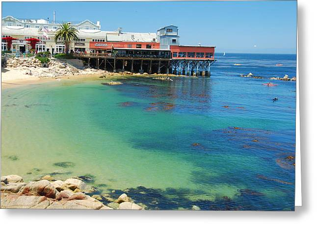 Best Sellers -  - Pacific Ocean Prints Greeting Cards - Waterfront at Cannery Row Greeting Card by Jonah  Anderson