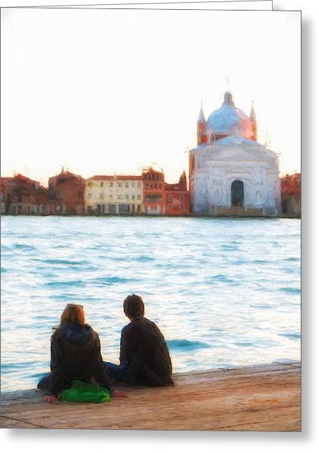Dorsoduro Greeting Cards - Waterfront Church Venice Greeting Card by Paul Bucknall