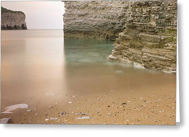Moss Greeting Cards - Waterfront Cliffs, North Landing Greeting Card by Panoramic Images