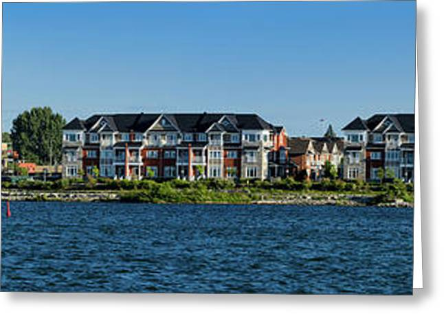 Waterfront Homes And Commercial Greeting Card by Panoramic Images