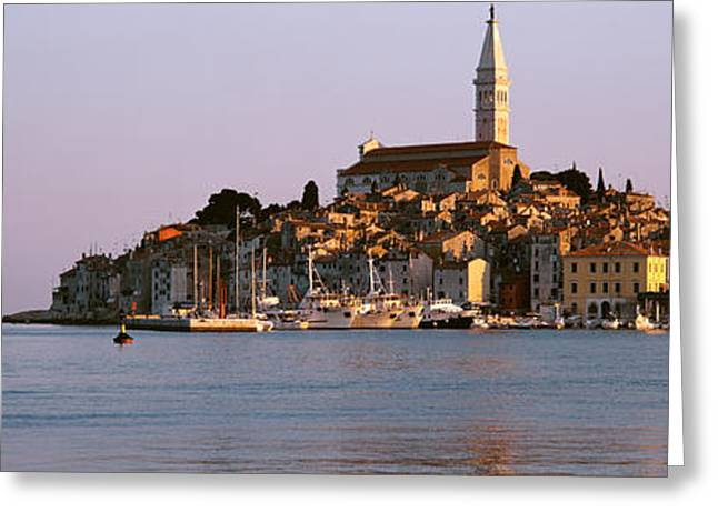 Eastern Europe Greeting Cards - Waterfront, Rovinj, Croatia Greeting Card by Panoramic Images