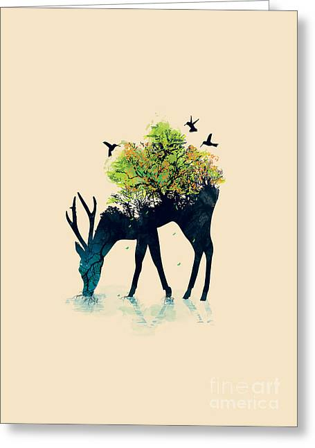Surrealism Greeting Cards - Watering A life into itself Greeting Card by Nava Seas